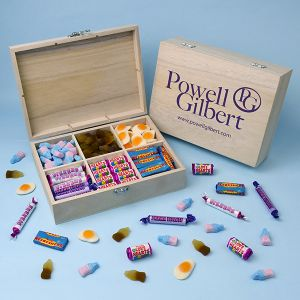 Branded 6 Compartment Wooden Sweet Box