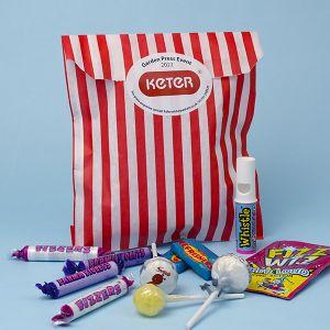 Branded Large Striped Sweet Bag