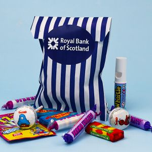 Branded Small Striped Sweet Bag