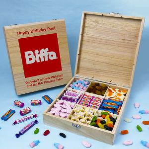 Branded 9 Compartment Wooden Sweet Box